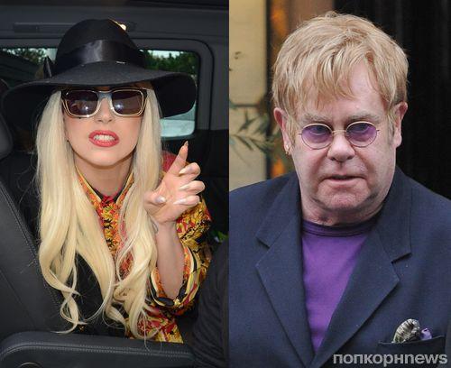 Элтон Джон попросил Lady Gaga стать крестной мамой своего сына
