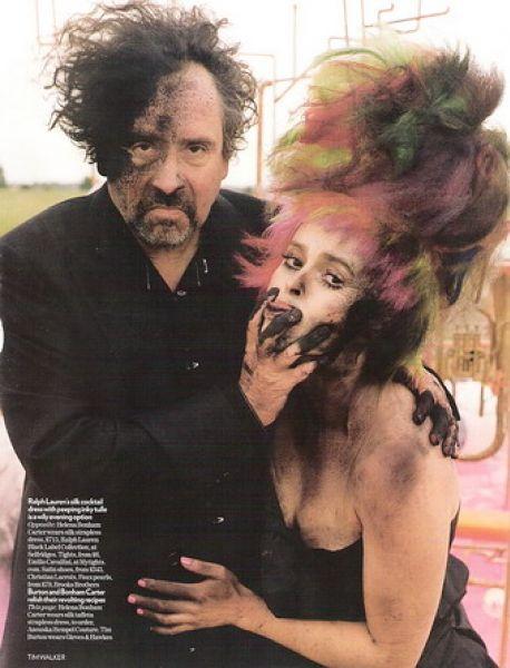 Тим Бартон и Хелена Бонэм Картер в Vogue