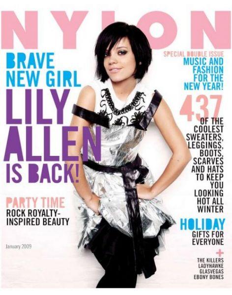 Лили Аллен в журнале Nylon. Январь 2009