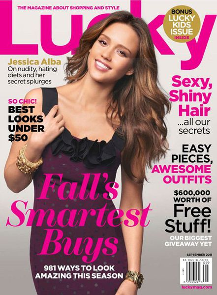 Джессика Альба в журнале Lucky. Сентябрь 2011