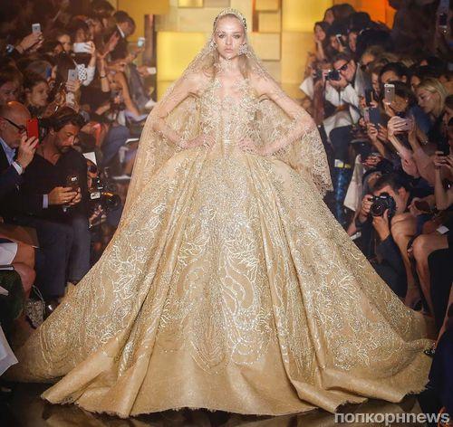 Модный показ новой коллекции Elie Saab Couture. Осень / зима 2015-2016
