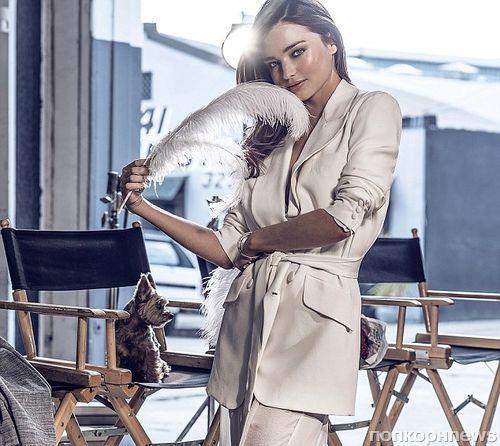 Миранда Керр и ее пес снялись в новой рекламной кампании Swarovski