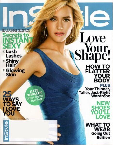 Кейт Уинслет в журнале InStyle. Февраль 2009