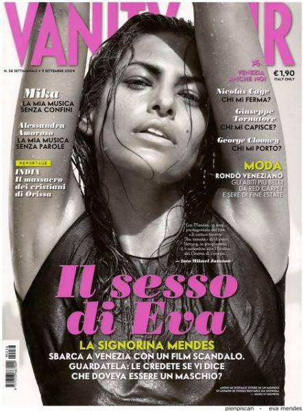 Ева Мендес в журнале Vanity Fair. Сентябрь 2009