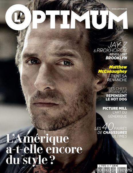 Мэттью МакКонахи в журнале L'Optimum. Ноябрь 2012