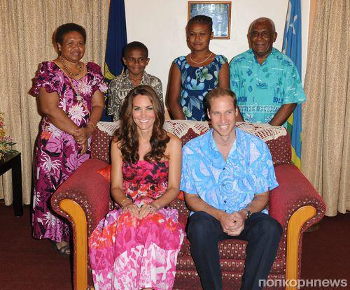 Кейт Миддлтон и принц Уильям на Соломоновых островах
