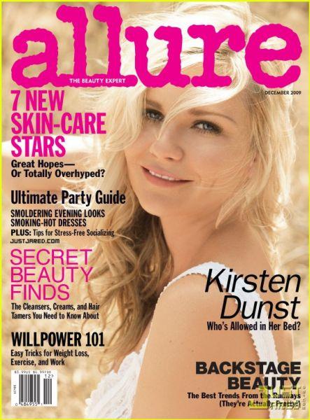 Кирстен Данст в журнале Allure. Декабрь 2009