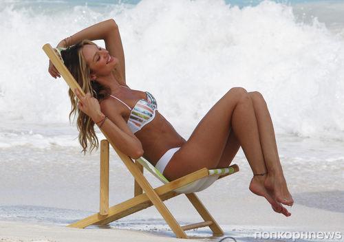 Кэндис Свейнпол на фотосессии для Victoria's Secret