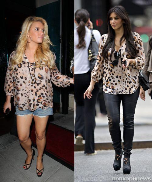 Fashion battle: Джессика Симпсон и Ким Кардашиан