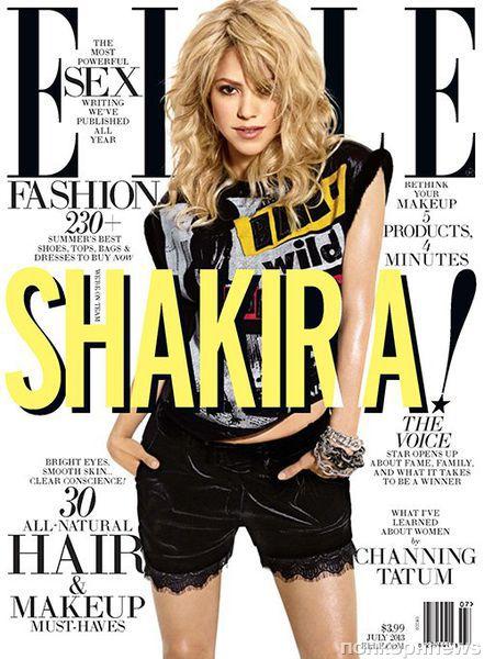 Шакира в журнале ELLE. Июль 2013