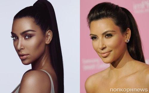 Ким Кардашьян раскритиковали за попытку затемнить тон кожи