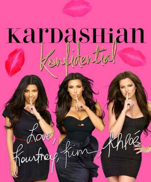 Обложка новой книги о сестер Кардашиан