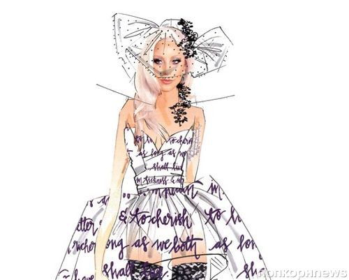 Карл Лагерфельд и другие дизайнеры создали эскизы свадебного платья Леди Гага