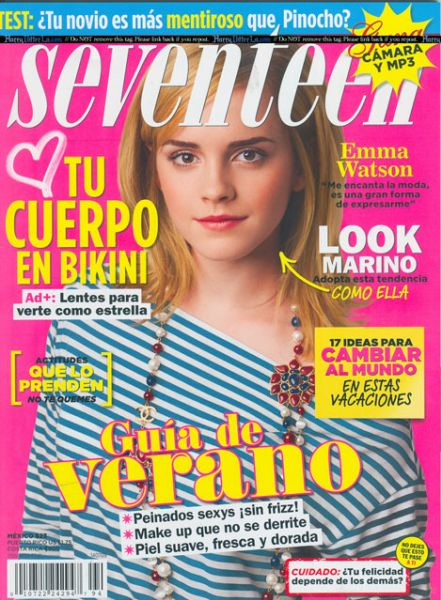Эмма Уотсон в журналах Seventeen. Июль и Yodona. Июнь. Испания.2009