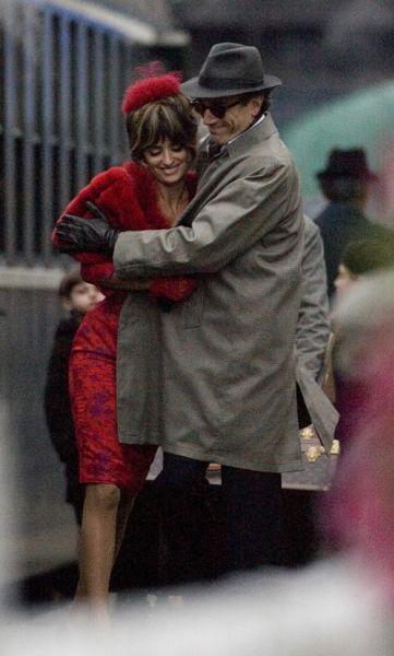 Пенелопа Крус на съемках нового фильма «Девять»