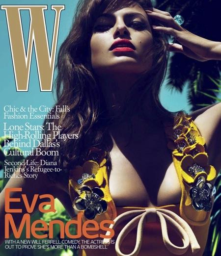 Ева Мендес в журнале W. Июль 2010