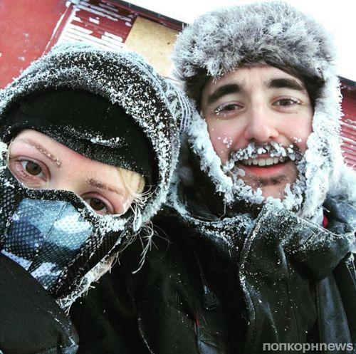Элли Голдинг едва не провалилась под лед в Норвегии