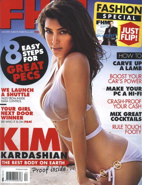 Ким Кардашиан в журнале FHM Австралия. Апрель 2010
