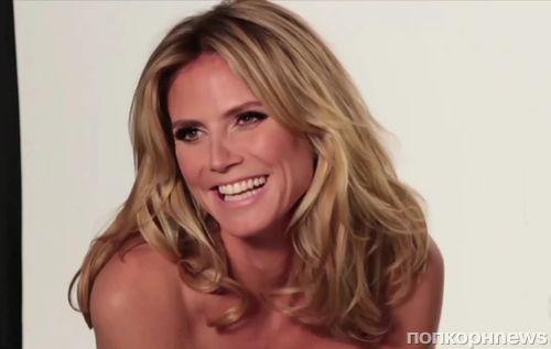 Хайди Клум на съемках рекламной кампании косметики SkinMatch
