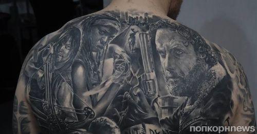 Фанат «Ходячих мертвецов» сделал татуировку с героями сериала