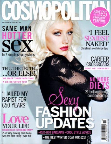 Кристина Агилера в журнале Cosmopolitan UK. Ноябрь 2009