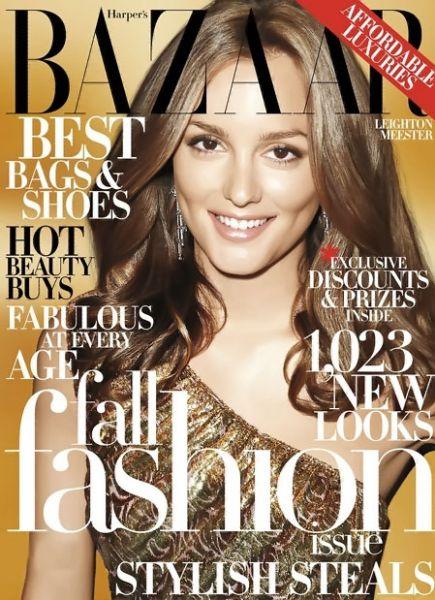 Лейтон Мистер в журнале Harper's Bazaar. США. Сентябрь 2009
