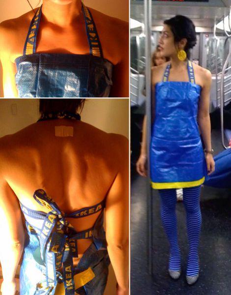 Интерсные штучки: а вы бы надели на себя синий пакет Ikea?