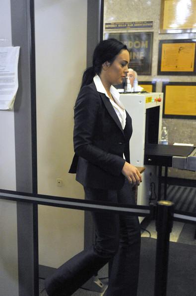 Линдсей Лохан прибыла в суд