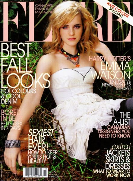 Эмма Уотсон в журнале Flare. Ноябрь 2008