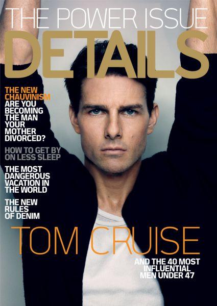 Том Круз на обложке журнала Details. Январь 2009