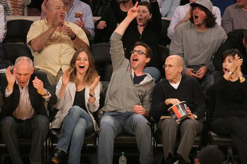 "Роберт Дауни младший на игре ""Los Angeles Lakers"""