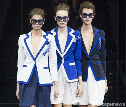Модный показ новой коллекции Emporio Armani. Весна / лето 2015