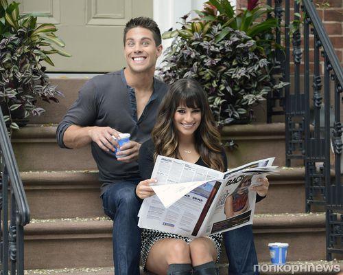 """Съемки сериала """"Glee/Хор"""" в Нью-Йорке"""
