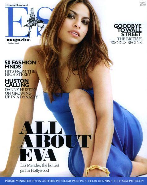Ева Мендес в октябрьском номере журнала Es