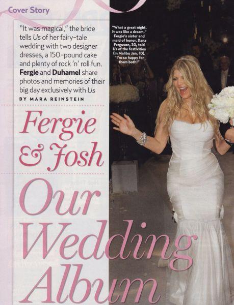 Свадебные фотографии Ферги и Джоша Дюамеля из US Weekly