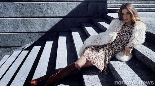 Андреа Диакону в рекламной кампании H&M. Осень / зима 2014-2015