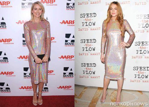 Fashion battle: Наоми Уоттс и Линдси Лохан