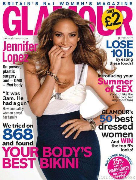 Дженнифер Лопес в журнале Glamour Великобритания. Июнь 2012