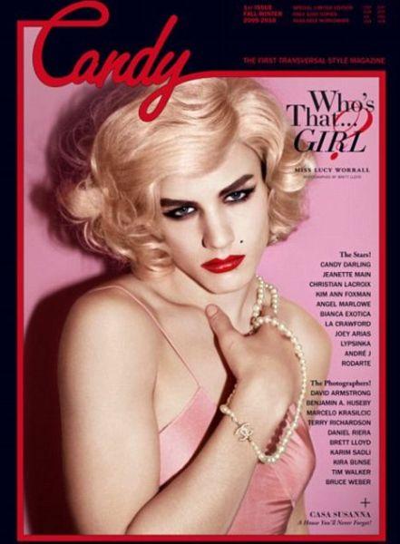 Жених Келли Осборн в журнале Candy в роли трансвестита