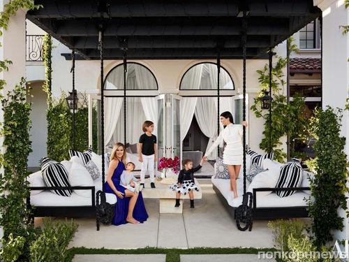 Кортни и Хлое Кардашьян показали свои роскошные дома в журнале Architectural Digest
