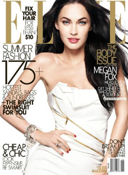 Меган Фокс в журнале Elle. Июнь 2009