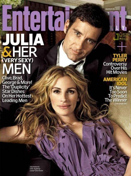 Джулия Робертс и Клайв Оуэн в журнале Entertainment Weekly