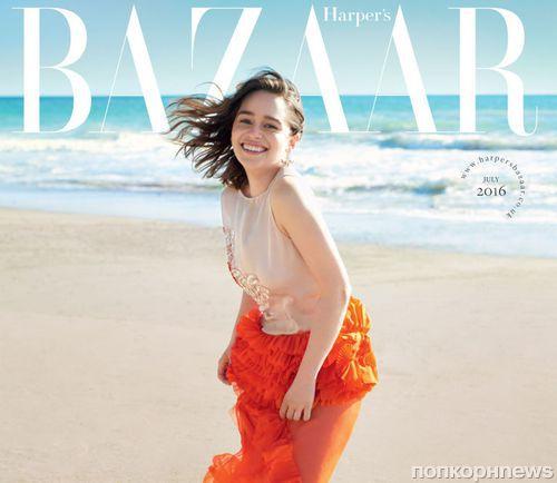Эмилия Кларк в журнале Harper's Bazaar Великобритания, июль 2016