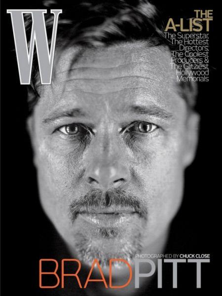 Брэд Питт в журнале W. Февраль 2009