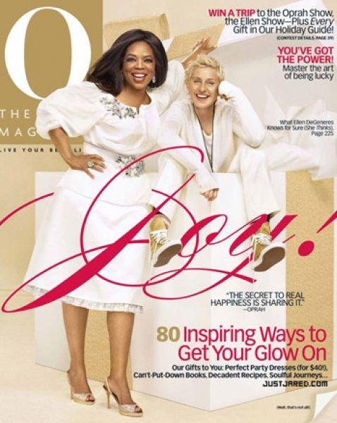 Опра Уинфри и Эллен ДеДженерес в журнале The Oprah. Декабрь 2009