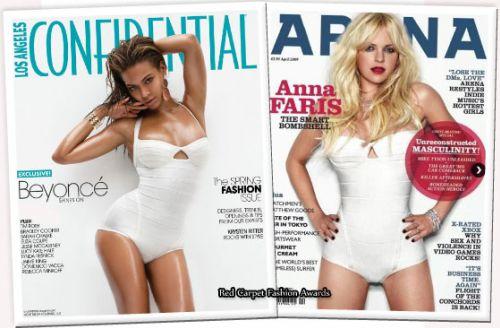 Fashion cover battle: Бейонсе и Анна Фэрис