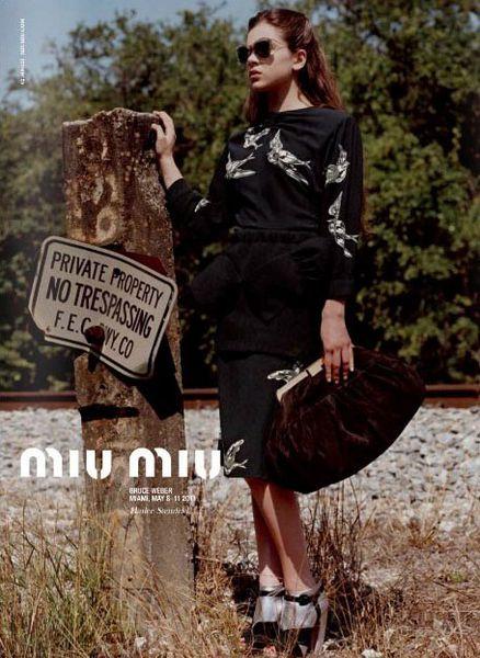 Первый кадр новой рекламной компании Miu Miu с Хейли Стэнфилд