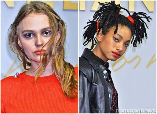 «Звездные дочки» Лили-Роуз Депп, Уиллоу Смит и Систин Сталлоне на показе Chanel