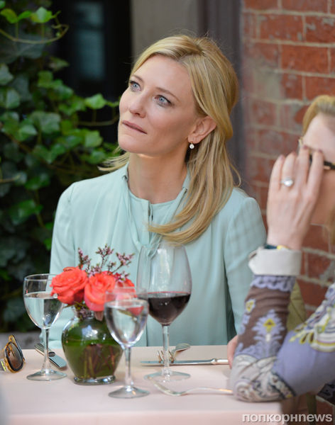 Кейт Бланшетт на съемках нового фильма Вуди Аллена
