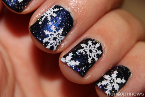 Фото: идеи рисунков на ногтях на Новый год 2016